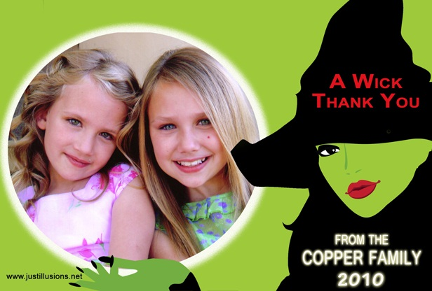 One of our Halloween thank you cards!  It can also be used as an invitation.
